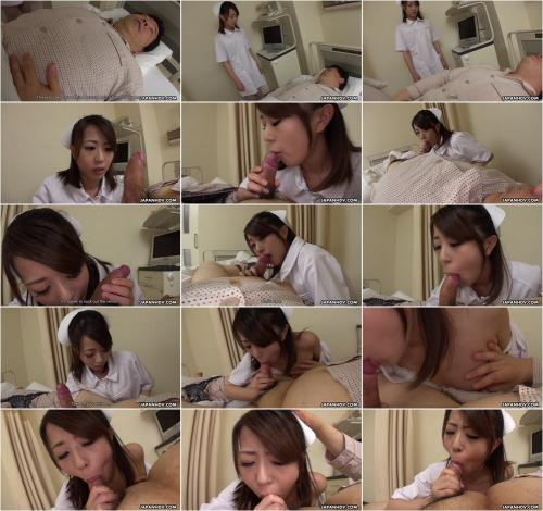 Reina Wamatsu - Reina Wamatsu helps a patient with a good cock sucking and cum in mouth [FullHD 1080P]