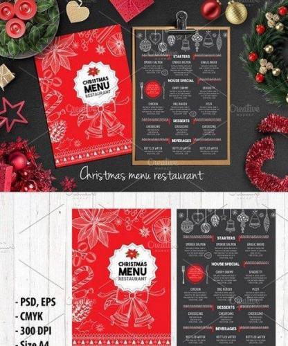 Food menu, restaurant flyer 16