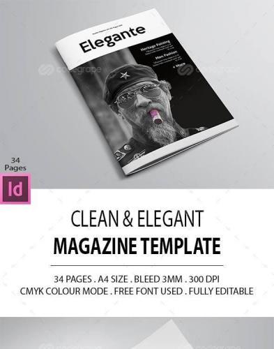 Clean Elegant Magazine Template 10657