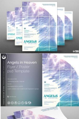 Angels In Heaven Flyer Template