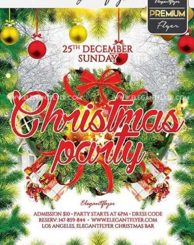 Christmas Party Flyer PSD V25 Template