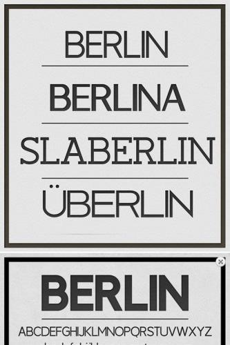 Berlin fonts