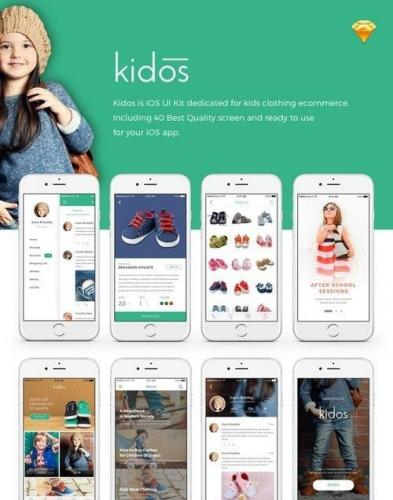 ThemeForest - Kidos - Kids Clothing iOS UI Kit