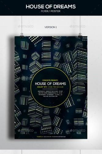House of Dreams Party Poster - 2 Versions