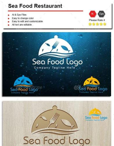 Sea Food Restaurant Logo 8959