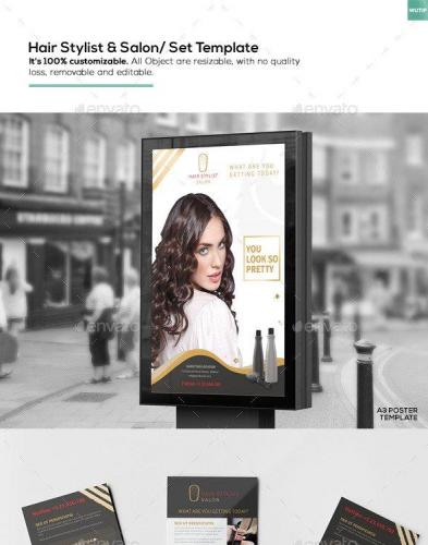 Hair Stylist & Salon- Set Template