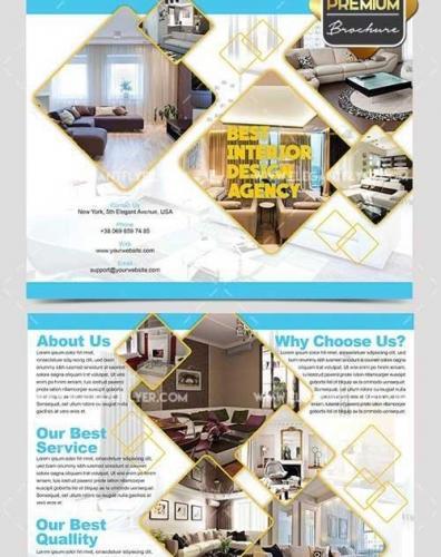 Interior Agency Bi-Fold PSD Brochure
