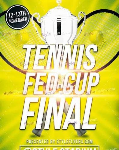 Tennis Fed Cup Final PSD V 12 Flyer Template