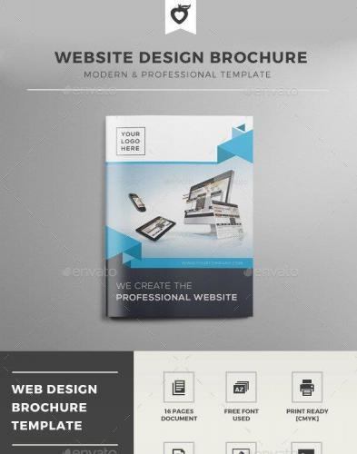 Website Design Brochure Template
