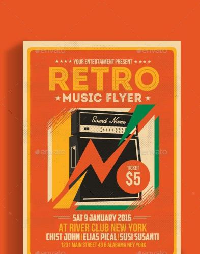 Retro Music Flyer Amplifier