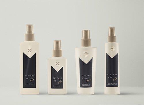 Spray PSD Perfume Bottle Mockup