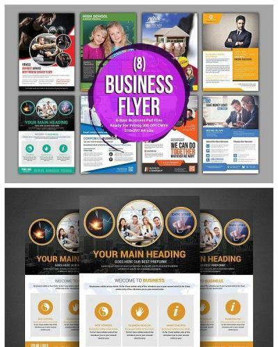 8 Corporate Business Flyer Bundle