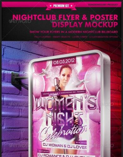 Nightclub Flyer & Poster Display Mockup
