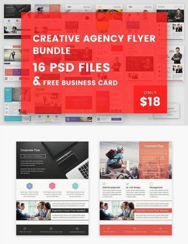 16 Creative Agency Flyer Bundle