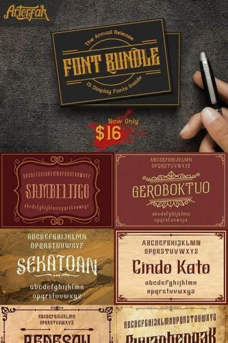 Arterfak Font Bundle I
