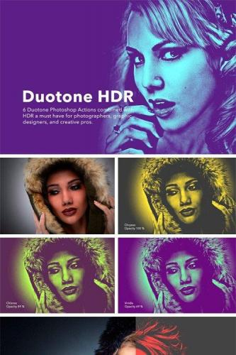 Duotone HDR Photoshop Actions