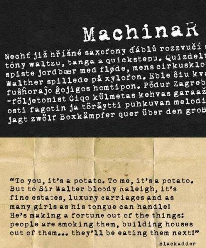 MachinaR Display Font