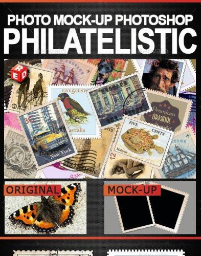 Philatelistic Photo Mock-Up