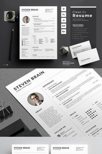 Clean Resume-CV 934350