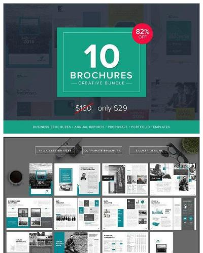 10 Creative Brochures - Mega Bundle