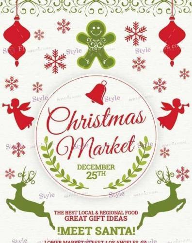 Christmas Market PSD V11 Flyer Template
