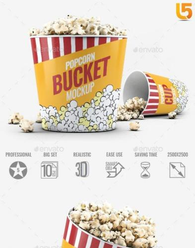 Popcorn Bucket & Cup Mock-Up