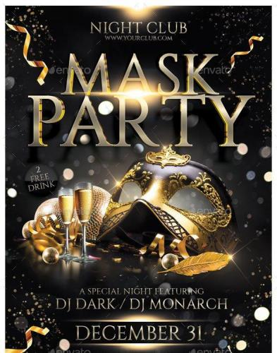 Mask Party Flyer