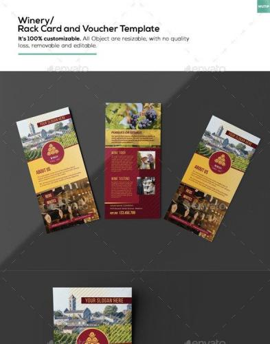 Winery- Rack Card and Voucher Template