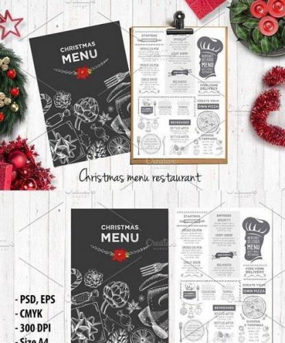 Food menu, restaurant flyer 24