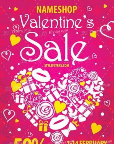 Valentines Sale PSD V13 Flyer Template
