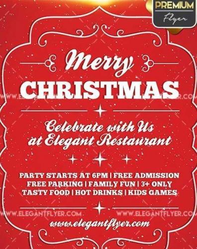 Christmas Invitation V5 Flyer PSD