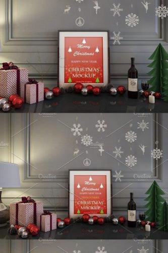 Realistic Christmas Mockup